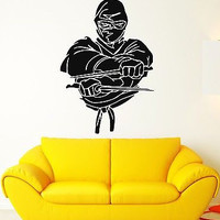 Wall Stickers Vinyl Decal Ninja Assassin Japanese Warrior (ig520)