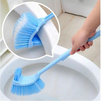 ICIK272 2017 Home Use Plastic Long Handle Bathroom Toilet Bowl Scrub Double Side Cleaning Brush