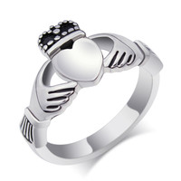 Fashion wedding rings for women and men stainless steel Claddagh rings jewelry