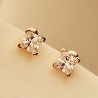 Absolute Princess Cut Rhinestone Earrings - LilyFair Jewelry