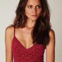 Intimately Rose Burnout Velvet Crop Bralette at Free People Clothing Boutique