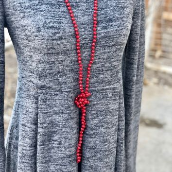 Long Beaded Necklaces in Several Colors