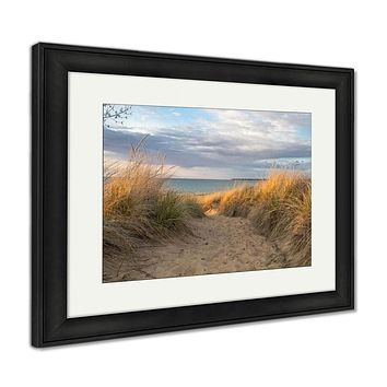 Framed Print, Austin Beach Walk