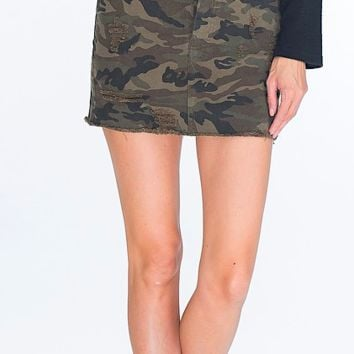 Find Me In The Dark Camo Skirt