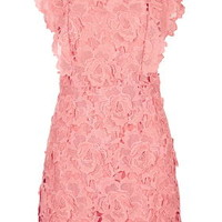 Scallop Lace A-Line Dress - Raspberry