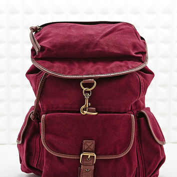Ecote Canvas Backpack in Burgundy - Urban Outfitters