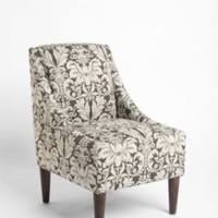 Chocolate Damask Flourish Chair