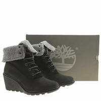 womens timberland black earthkeepers amston roll-top boots