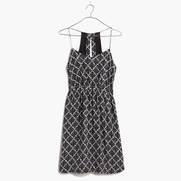 Silk Daylight Dress in Ikat Bloom