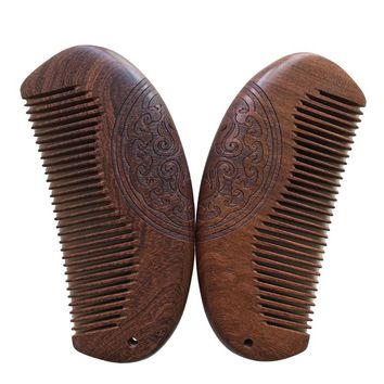 Comb Hair Styling Wooden Comb Natural Green Sandalwood Super Narrow Wood Combs Health Hair Care