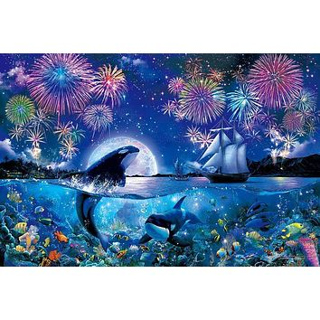 5D Diamond Painting Orca Fireworks Kit