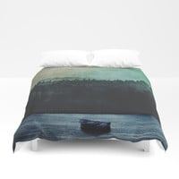 Great mystical wilderness Duvet Cover by HappyMelvin
