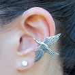 Hunger Games Inspired Silver Mocking Jay Ear Cuff