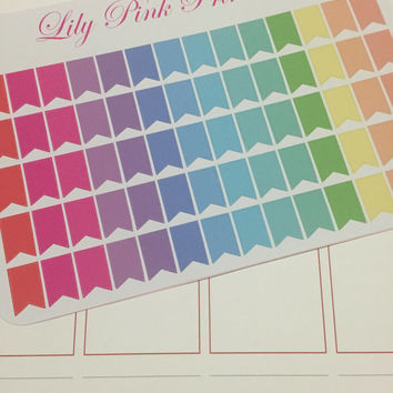 70 Mini Page Flag Stickers - Perfect for Erin Condren Life Planners / Journals / Die Cut Stickers.