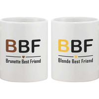 BBF Blonde Brunette Best Friend Mugs