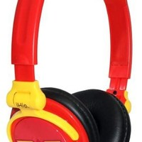 iHip DCF2400WW Classic Wonder Woman Logo Hi-Fi Noise Reducing, Folding Headphones Black/Red