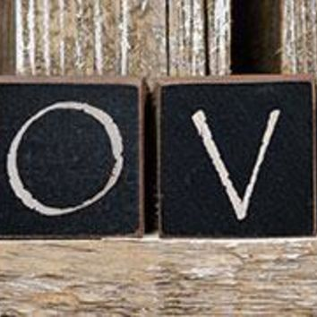 """LOVE Blocks - Spell out your Love - Four 1"""" Blocks"""