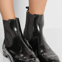 Charlotte Olympia   Chelsea Cats leather ankle boots   NET-A-PORTER.COM