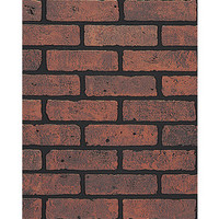 Shop DPI 0.21-in x 3-ft 11.76-in x 7-ft 11.76-in Red Brick/Eggshell Hardboard Wall Panel at Lowe's
