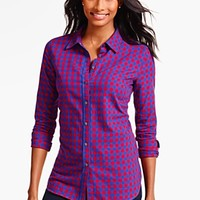 Talbots - Gala Herringbone Plaid Shirt | | Misses Discover your new look at Talbots. Shop our Gala Herringbone Plaid Shirt for stylish clothing and accessories with a modern twist at Talbots