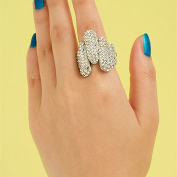 Crystal Logs Statement Ring