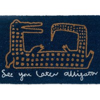 See You Later Alligator Doormat | Oliver Bonas
