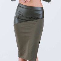 Chic 'N Sleek Mixed Media Skirt
