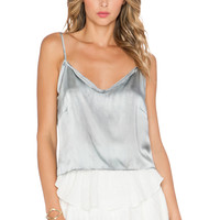 LoveShackFancy Crop Cami in Grey