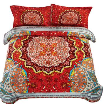 Svetanya Mandala Sheet Pillowcase Duvet Cover Set Print Queen Full Twin Size Bedlinen Cheap Bedding Sets