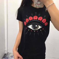 Kenzo Fashion Trending Eye t-shirt Black