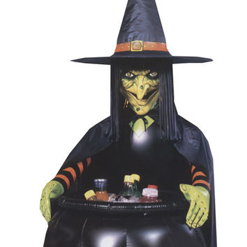 Inflatable 3' Witch Cauldron Cooler