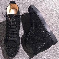 Cl Christian Louboutin Rhinestone Style #1971 Sneakers Fashion Shoes - Best Deal Online