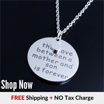The love Between a Mother and Son is Forever Necklace (8 Choice)