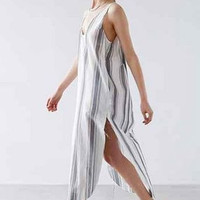 Causal Stripe Slit Dress