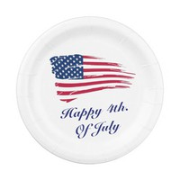 Custom 4th. Of July Paper Plates 7""