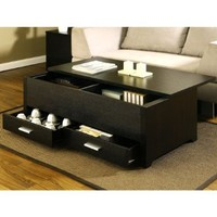 Garretson Storage Box Coffee Table in Espresso Finish