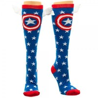 Marvel Captain America Star Knee High Socks with Wings