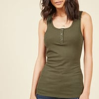 Confidence to Create Tank Top in Olive