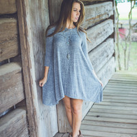 Smokey Mountains Dress in Heather Grey