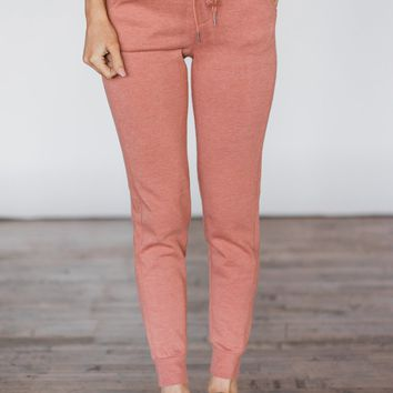 Mauve Slim-Fit Joggers