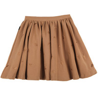 GUN Embroidered Flare Skirt