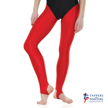 Tappers and Pointers Children's Nylon/Lycra Stirrup Leggings/Tights