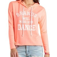Brands Graphic High-Low Hoodie by Charlotte Russe