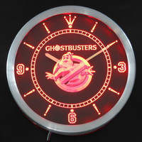 Ghostbusters Ghost Busters neon sign LED Wall Clock Logo Man cave movie room Nostalgia 80's