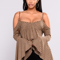Juniper Bell Sleeve Top - Mocha