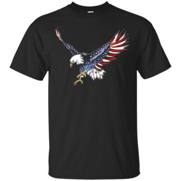USA Flag Bald Eagle T-shirt American Flag 4th Of July shirt_Black