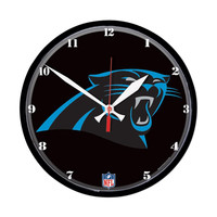 Carolina Panthers NFL Round Wall Clock