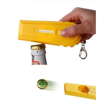 High Quality Kitchen Cooking Tool Portable Flying Cap Zappa Beer Drink Bottle Opener Opening Cap Launcher Top Shooter Gun