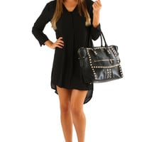 Make Me Feel Like Home Dress: Black