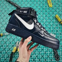 Nike Air Force 1 07 Mid Utility Pack Black White Af1 Fashion Shoes - Best Online Sale